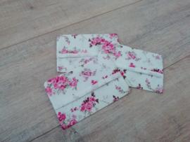 Zakdoekhoesjes Roze rozen