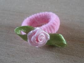 Elastiek Lichtroze, Roze roosje