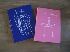 Notitieboek met zelfgemaakte tekening