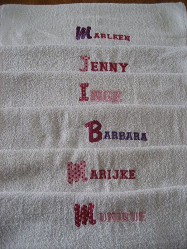 Handdoek met naam