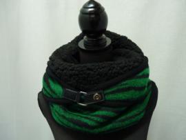 Groen met zwart zebramotief