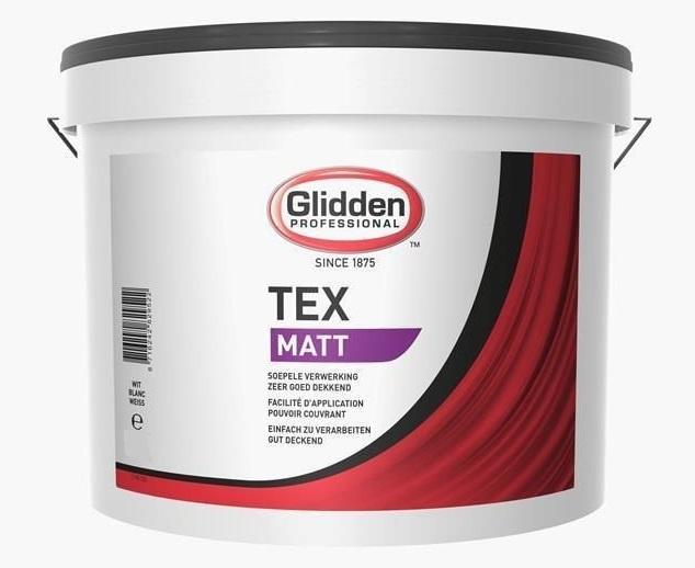 Glidden Tex Matt 10L | Donkere kleur naar wens