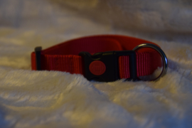 Nylon halsband rood 34-54