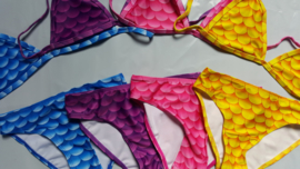 Glitter zeemeermin staart Paars + monovin