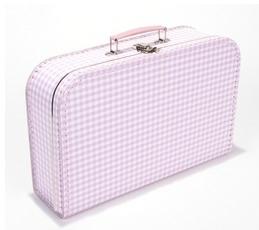 koffer roze/witte ruit