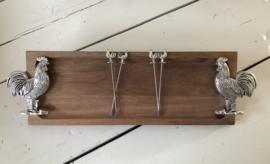 1. Borrelplank met 4 vorkjes