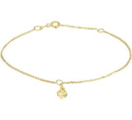 Gouden armbandje hartje