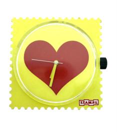 STAMPS-klokje rood hart