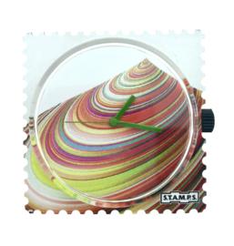 STAMPS-horloge rainbow mountain