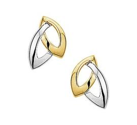 Gouden oorknopjes ovalen