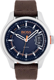 Hugo Boss Orange nylon bruin 46 mm