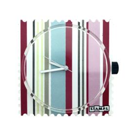 STAMPS-horloge stripes