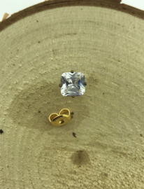 Zweerknopje goud met diamant