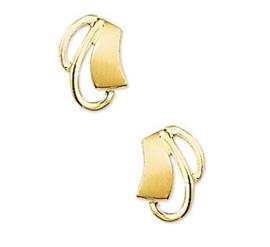 Gouden oorknopjes poli/mat