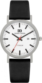 Danish Design horloge wit/zwart datum 39 mm