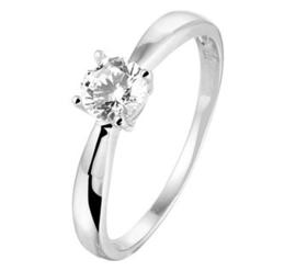 Zilveren ring zirkonia zetting