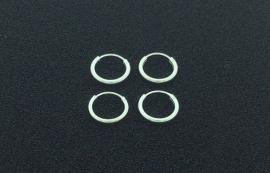 Zilveren oorringen van 1,4 x 12 mm