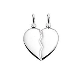 Zilveren kettinghanger breekhart
