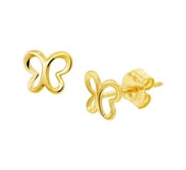 Gouden oorstekers open vlinder