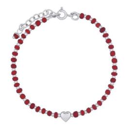 zilveren armband met hartje