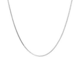Gerhodineerd zilveren kettinkje 38 cm