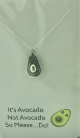 Zilveren geschenk AVOCADO