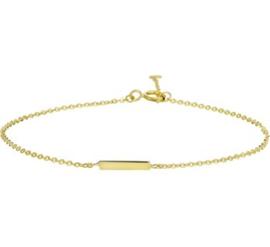 Gouden armband balkje