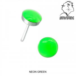 Zweerknopjes neon groen
