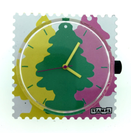 STAMPS-horloge colorful forest