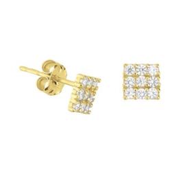 Gouden oorstekers vierkanten