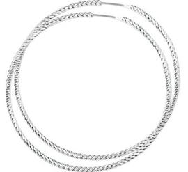Zilveren oorringen gedraaid 56 mm