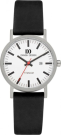 Danish Design horloge wit/zwart datum 30 mm