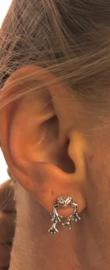Back and Front kikker oorbel