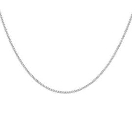 Gerhodineerd zilveren kettinkje 42 cm breed