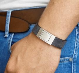 Armband leer mat 18 mm 21 cm