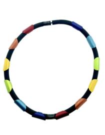 Tjongejonge collier stukken multicolor