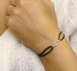 Armband satijn zwart