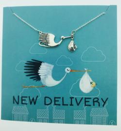 Zilveren geschenk NEW DELIVERY