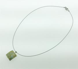 Titanium collier vierkant goudkleur