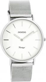 OOZOO horloge wit / zilver 36 MM