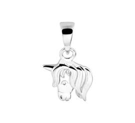 Zilveren kinder kettinghanger paardenhoofd