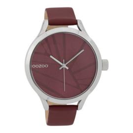 OOZOO Timepieces donkerrood 43 mm