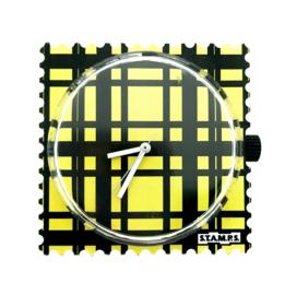 STAMPS-klokje black and yellow