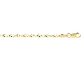 Gouden armbandje gedraaid
