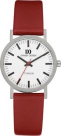 Danish Design horloge wit/rood 30 mm