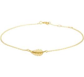 Gouden armband veer