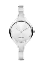 Danish Design horloge zilver 28 cm