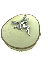 Zilveren kettinghanger elf