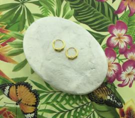 Oorringen Bali goud op zilver