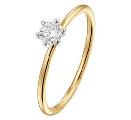 Gouden bicolor ring zirkonia